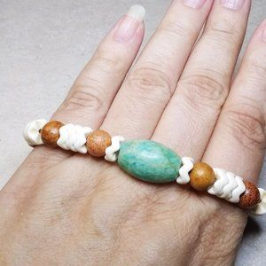 """Lovely Mixed Media Stretch Bracelet with a SouthWestern Flair - app 6.5"""""""